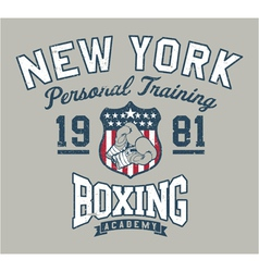 New York Boxing academy vector image