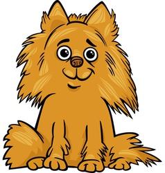 Pomeranian dog cartoon vector