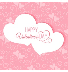 Postcard Happy Valentines abstract vector image vector image