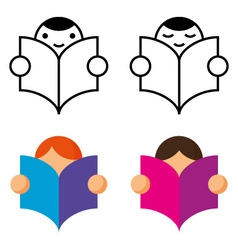 Readers icon vector