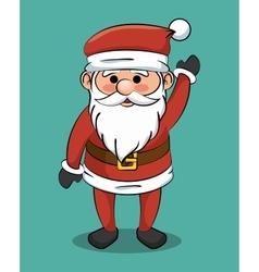 santa claus greets icon design vector image vector image