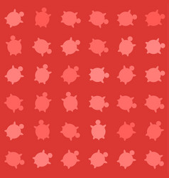 seamless colorful turtle pattern with lines vector image