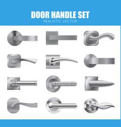 silver door handle collection vector image