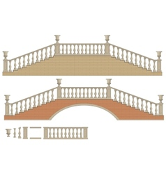 two-way ladder and bridge vector image