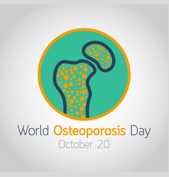 world osteoporosis day icon vector image