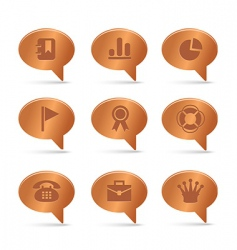 04 copper bubbles office icons vector image vector image