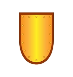 Sign shield gold 1908 vector
