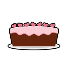 Cake party cream bakery birthday icon vector