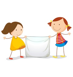Kids holding a sign vector