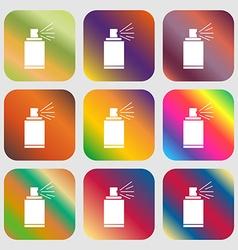 Graffiti spray can sign icon aerosol paint symbol vector