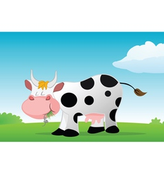 Cow eating vector