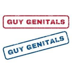 Guy genitals rubber stamps vector