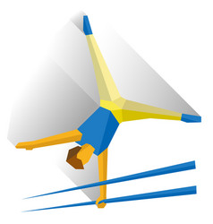 Gymnasts performing a routine on parallel bars vector