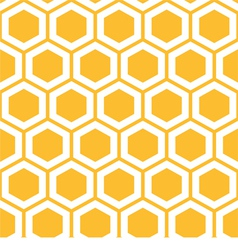 Pattern with honeycombs vector