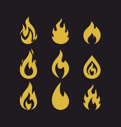 big set of flames vector image