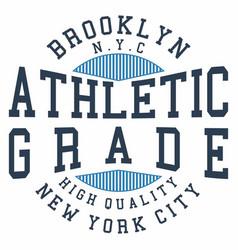 Athletic grade vector