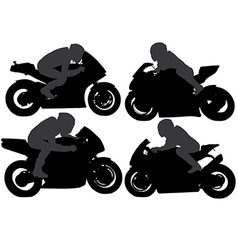 Superbike silhouette vector
