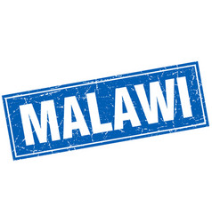 Malawi blue square grunge vintage isolated stamp vector