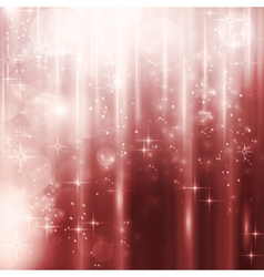 Cascades of light with stars and bokeh background vector image