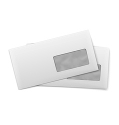 Blank envelopes with window on white background vector
