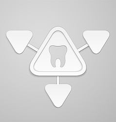 Tooth in and around triangle vector
