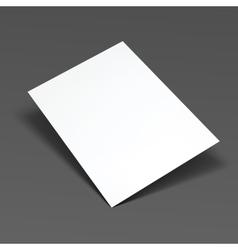 Empty paper sheet vector image