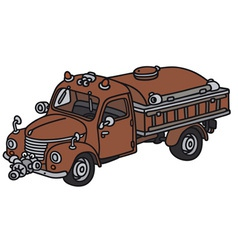 Old fire truck vector
