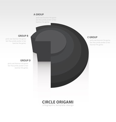 Business infographics circle origami style black vector
