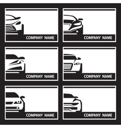 set of car labels vector image
