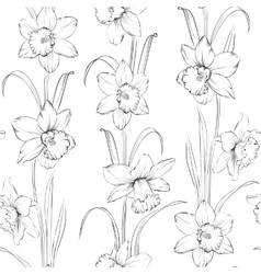 Spring flowers fabric seamless pattern vector