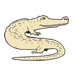 Comic cartoon alligator vector