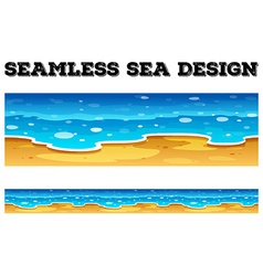 Seamless background design with blue ocean vector