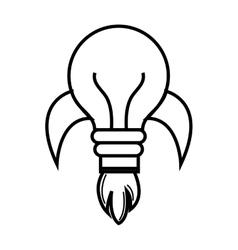 Bulb or great idea isolated icon design vector