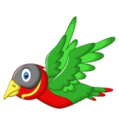 Cute sparrow cartoon flying vector