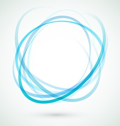 Abstract background blue circle design element vector image vector image