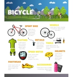 Bicycles accessories isolated on white background vector image vector image