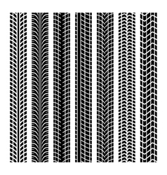Black tire marks vector