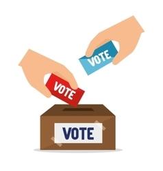cartoon elections vote design vector image