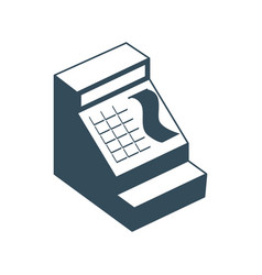 Cash register isolated financial accessory store vector