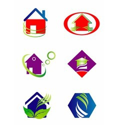 Collection of house and home logo vector image vector image