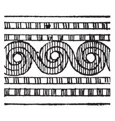 Cretan ornament is a round stylized flower design vector