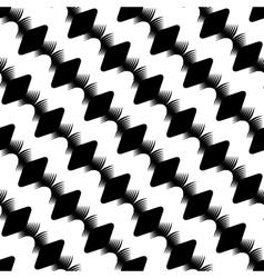 Design seamless stripy diamond zigzag pattern vector