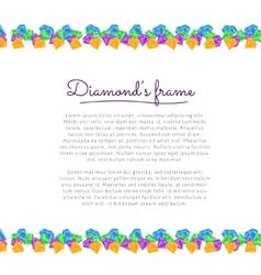 Diamond frame vector
