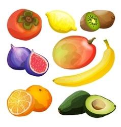 Exotic fruits set vector