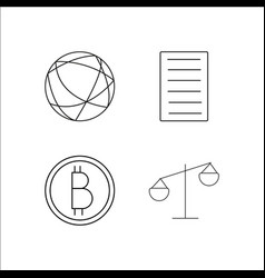 finance banking and money simple linear icon vector image vector image