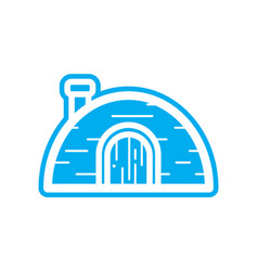 Flat color igloo icon vector