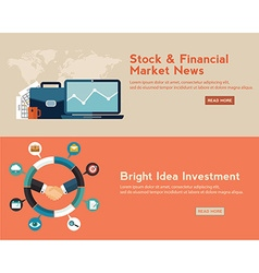 Flat design concepts for business finance stock vector image vector image