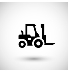 Forklift loader icon vector