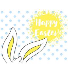 funny cartoon easter rabbit vector image vector image