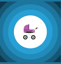 Isolated pram flat icon stroller element vector